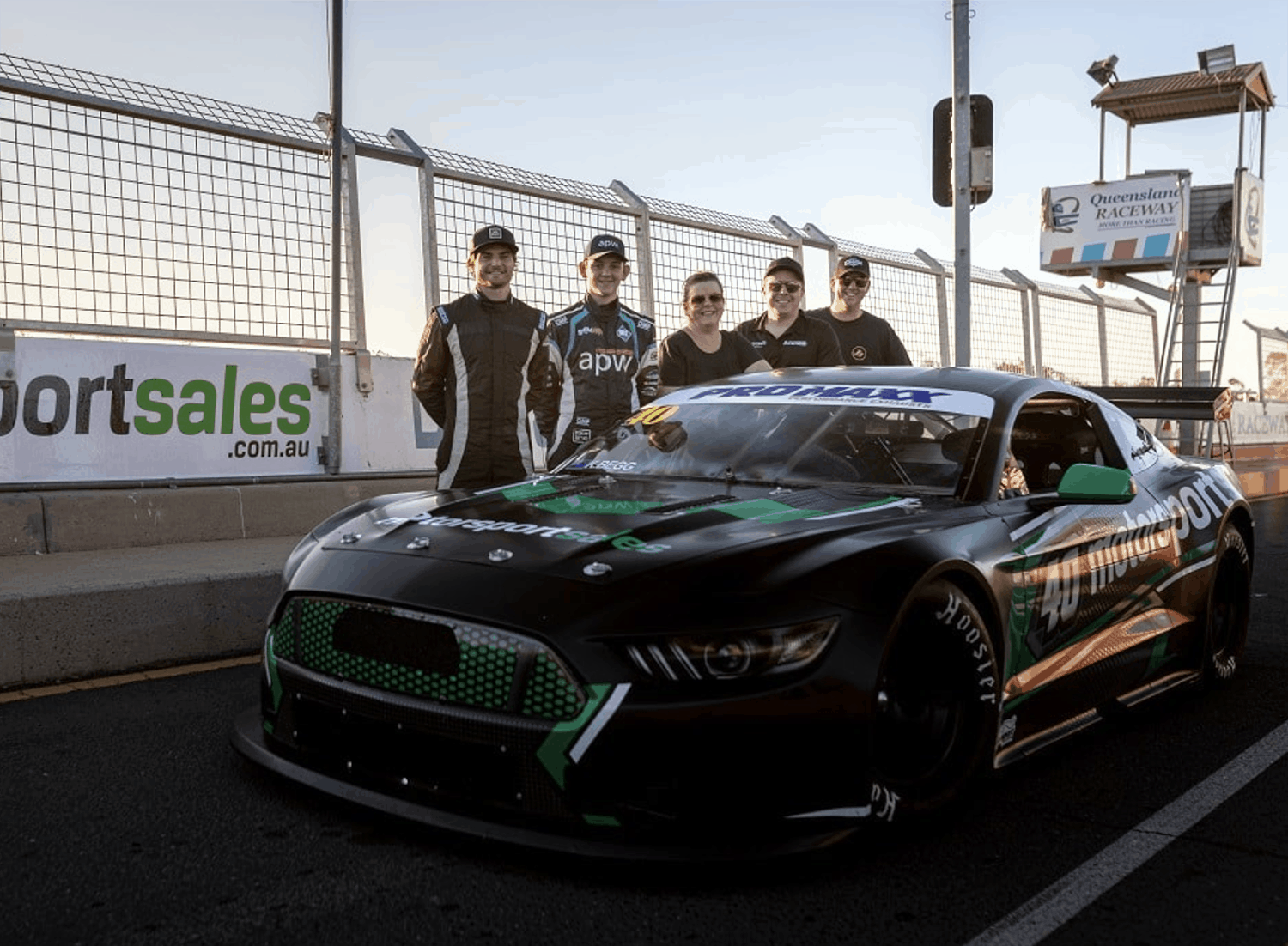 Slade, Morris and Jett Johnson get Trans Am laps at QR